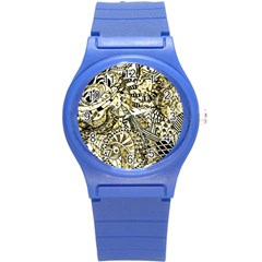 Zentangle Mix 1216a Round Plastic Sport Watch (S)
