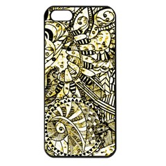 Zentangle Mix 1216a Apple iPhone 5 Seamless Case (Black)