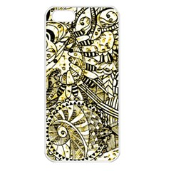Zentangle Mix 1216a Apple iPhone 5 Seamless Case (White)