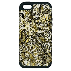 Zentangle Mix 1216a Apple iPhone 5 Hardshell Case (PC+Silicone)