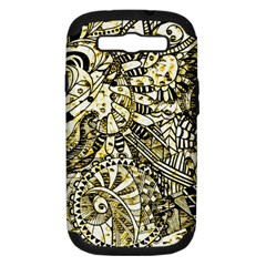 Zentangle Mix 1216a Samsung Galaxy S III Hardshell Case (PC+Silicone)