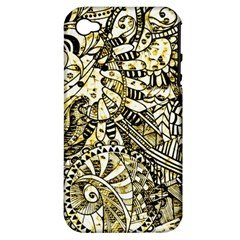 Zentangle Mix 1216a Apple iPhone 4/4S Hardshell Case (PC+Silicone)