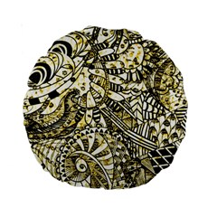 Zentangle Mix 1216a Standard 15  Premium Round Cushions
