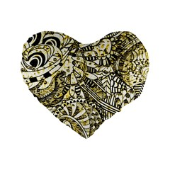 Zentangle Mix 1216a Standard 16  Premium Heart Shape Cushions