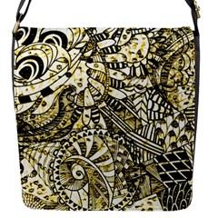 Zentangle Mix 1216a Flap Messenger Bag (S)