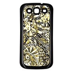 Zentangle Mix 1216a Samsung Galaxy S3 Back Case (Black)
