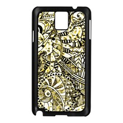 Zentangle Mix 1216a Samsung Galaxy Note 3 N9005 Case (Black)