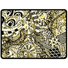 Zentangle Mix 1216a Double Sided Fleece Blanket (Large)
