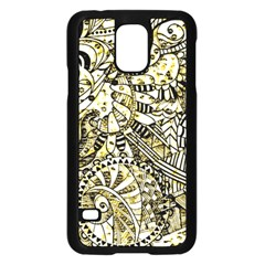 Zentangle Mix 1216a Samsung Galaxy S5 Case (Black)