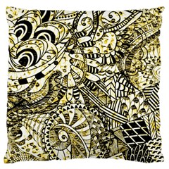 Zentangle Mix 1216a Large Flano Cushion Case (One Side)
