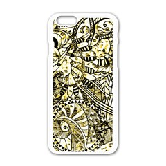 Zentangle Mix 1216a Apple iPhone 6/6S White Enamel Case