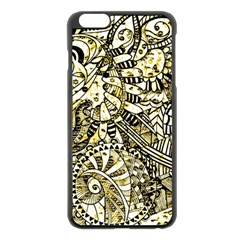 Zentangle Mix 1216a Apple iPhone 6 Plus/6S Plus Black Enamel Case