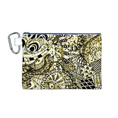 Zentangle Mix 1216a Canvas Cosmetic Bag (M)