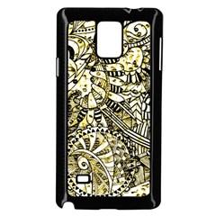 Zentangle Mix 1216a Samsung Galaxy Note 4 Case (Black)