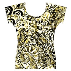 Zentangle Mix 1216a Women s Cap Sleeve Top