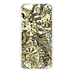 Zentangle Mix 1216a Apple Seamless iPhone 6 Plus/6S Plus Case (Transparent)