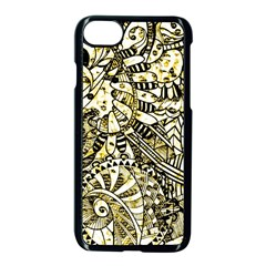 Zentangle Mix 1216a Apple iPhone 7 Seamless Case (Black)