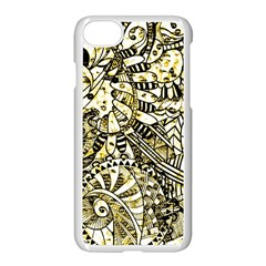 Zentangle Mix 1216a Apple Iphone 7 Seamless Case (white)