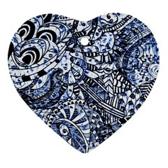 Zentangle Mix 1216b Ornament (Heart)