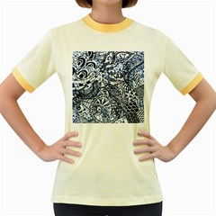 Zentangle Mix 1216b Women s Fitted Ringer T-Shirts
