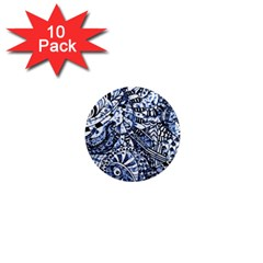 Zentangle Mix 1216b 1  Mini Magnet (10 pack)