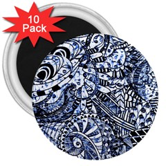 Zentangle Mix 1216b 3  Magnets (10 pack)