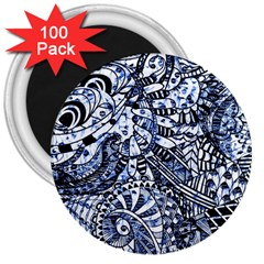 Zentangle Mix 1216b 3  Magnets (100 pack)
