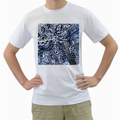 Zentangle Mix 1216b Men s T-Shirt (White) (Two Sided)