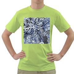 Zentangle Mix 1216b Green T-Shirt