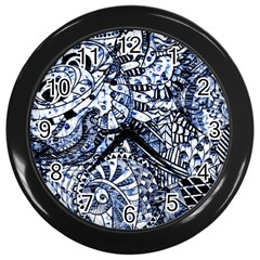 Zentangle Mix 1216b Wall Clocks (Black)