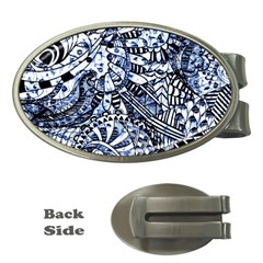 Zentangle Mix 1216b Money Clips (Oval)