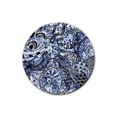 Zentangle Mix 1216b Rubber Round Coaster (4 pack)
