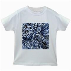 Zentangle Mix 1216b Kids White T-Shirts