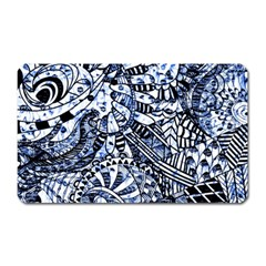 Zentangle Mix 1216b Magnet (Rectangular)