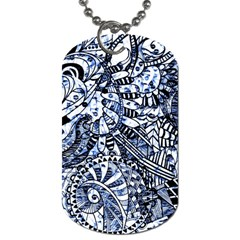 Zentangle Mix 1216b Dog Tag (One Side)
