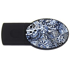 Zentangle Mix 1216b USB Flash Drive Oval (1 GB)
