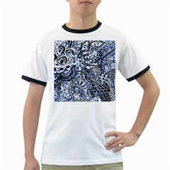 Zentangle Mix 1216b Ringer T-Shirts