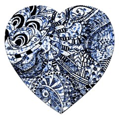 Zentangle Mix 1216b Jigsaw Puzzle (Heart)
