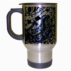 Zentangle Mix 1216b Travel Mug (Silver Gray)