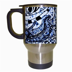 Zentangle Mix 1216b Travel Mugs (White)