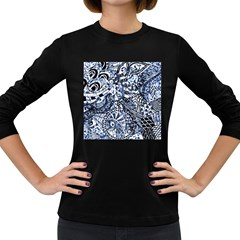 Zentangle Mix 1216b Women s Long Sleeve Dark T-Shirts