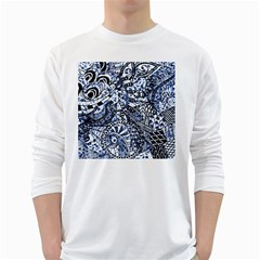 Zentangle Mix 1216b White Long Sleeve T-Shirts