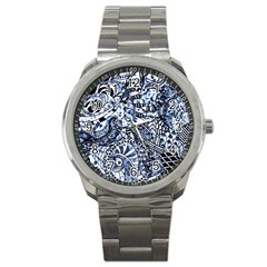 Zentangle Mix 1216b Sport Metal Watch