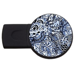 Zentangle Mix 1216b USB Flash Drive Round (4 GB)