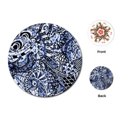 Zentangle Mix 1216b Playing Cards (Round)