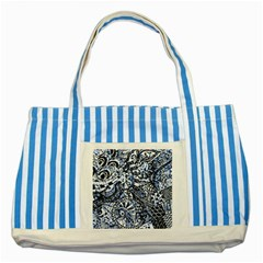 Zentangle Mix 1216b Striped Blue Tote Bag