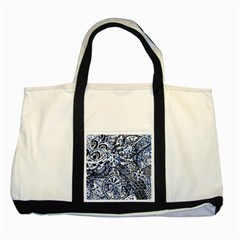 Zentangle Mix 1216b Two Tone Tote Bag