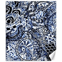 Zentangle Mix 1216b Canvas 8  x 10