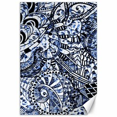 Zentangle Mix 1216b Canvas 12  x 18