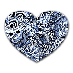 Zentangle Mix 1216b Heart Mousepads